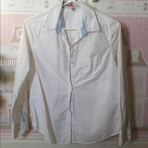 White Forever 21 button up top